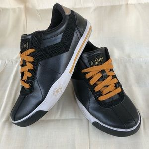 Women's PONY Black and Gold Shoes